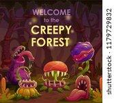 predator plants on the night... | Shutterstock .eps vector #1179729832
