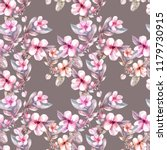 watercolor apple tree flowers...   Shutterstock . vector #1179730915