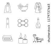 maiden healthcare icons set.... | Shutterstock . vector #1179737665