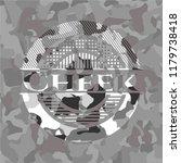 cheek grey camo emblem | Shutterstock .eps vector #1179738418