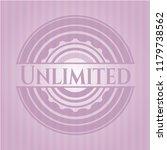 unlimited realistic pink emblem | Shutterstock .eps vector #1179738562