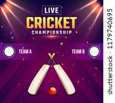 live cricket championship... | Shutterstock .eps vector #1179740695