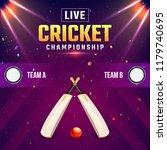 live cricket championship... | Shutterstock .eps vector #1179740695