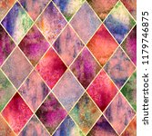 watercolor argyle abstract pink ...   Shutterstock . vector #1179746875