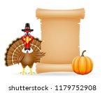 thanksgiving turkey bird... | Shutterstock . vector #1179752908
