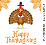 thanksgiving turkey bird... | Shutterstock . vector #1179752935