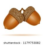 autumn oak acorns illustration... | Shutterstock . vector #1179753082