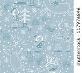 seamless pattern  with girl and ... | Shutterstock .eps vector #117976846