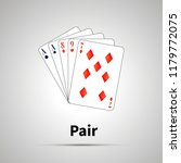 pair poker combination with... | Shutterstock . vector #1179772075