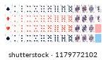 full set of detailed colorful... | Shutterstock . vector #1179772102