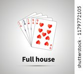 full house poker combination... | Shutterstock . vector #1179772105