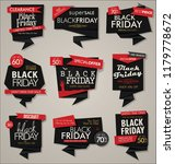collection of black friday ... | Shutterstock .eps vector #1179778672