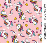 unicorns pop art background... | Shutterstock .eps vector #1179787195