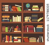 books in library bookcase.... | Shutterstock .eps vector #1179788335