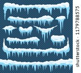 cartoon snow icicles. icicle... | Shutterstock .eps vector #1179788575