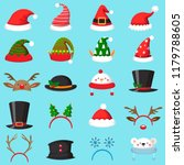 cartoon christmas hat. xmas... | Shutterstock .eps vector #1179788605