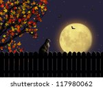 Magic Night Landscape With Moo...