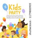 joyous african american kids in ... | Shutterstock . vector #1179800905