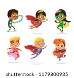 multiracial boys and girls ... | Shutterstock . vector #1179800935