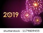 vector holiday festival pink... | Shutterstock .eps vector #1179809455