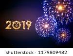 vector holiday festival blue... | Shutterstock .eps vector #1179809482