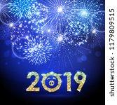 vector holiday festival blue... | Shutterstock .eps vector #1179809515