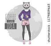 retro hipster fashion animal... | Shutterstock .eps vector #1179809665