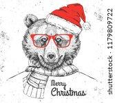 christmas hipster fashion...   Shutterstock .eps vector #1179809722