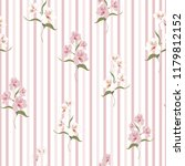 flower seamless pattern with... | Shutterstock .eps vector #1179812152