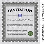 grey invitation template. money ... | Shutterstock .eps vector #1179813715