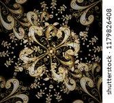 vintage baroque floral seamless ... | Shutterstock .eps vector #1179826408