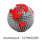 3d rendering of earth isolated... | Shutterstock . vector #1179832285