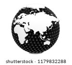 3d rendering of earth isolated... | Shutterstock . vector #1179832288