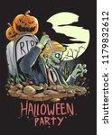 halloween zombies holding a... | Shutterstock .eps vector #1179832612