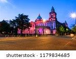 belfast  uk. nightlife with... | Shutterstock . vector #1179834685