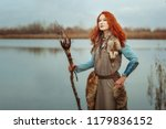 pagan woman is a shaman  in her ... | Shutterstock . vector #1179836152