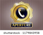 gold badge or emblem with old... | Shutterstock .eps vector #1179843958
