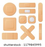 elastic medical plasters.... | Shutterstock .eps vector #1179845995