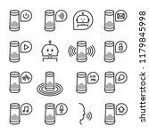 smart speaker icon ... | Shutterstock .eps vector #1179845998