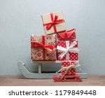 big and small christmas sledges ... | Shutterstock . vector #1179849448