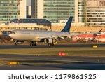 longhaul widebody jet airplane... | Shutterstock . vector #1179861925
