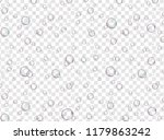 realistic bubbles on a... | Shutterstock .eps vector #1179863242