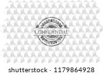 confidential grey emblem with... | Shutterstock .eps vector #1179864928