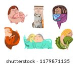 animals with the owners  pets... | Shutterstock .eps vector #1179871135