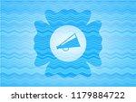 megaphone icon inside water... | Shutterstock .eps vector #1179884722