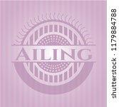 ailing pink emblem. vintage.   Shutterstock .eps vector #1179884788