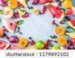 summer vitamin food concept ... | Shutterstock . vector #1179892102