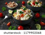 fresh tuna rice salad with... | Shutterstock . vector #1179902068