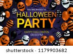 halloween party invitation... | Shutterstock .eps vector #1179903682