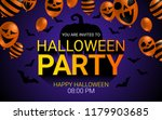 halloween party invitation... | Shutterstock .eps vector #1179903685